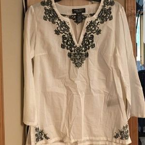 Nine West Embroidered Tunic Size Small
